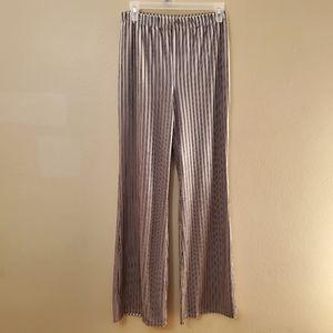Forever 21 Gray Striped Velvet Boho Pants Medium